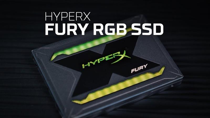 RGB SSD with 3D NAND 240GB 480GB 960GB HyperX FURY RGB SSD