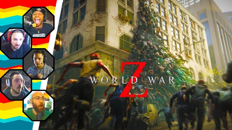 Streamers React to World War Z Zombie Horde Moments 1 (WWZ)