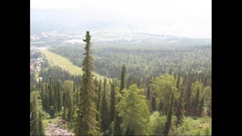 Подьемник на гору Мустаг-Курган. Шерегеш Горная Шория. Алтай.