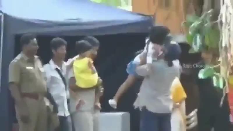 ❤️ RamCharan Рам Чаран на съёмках фильма Миротворец.