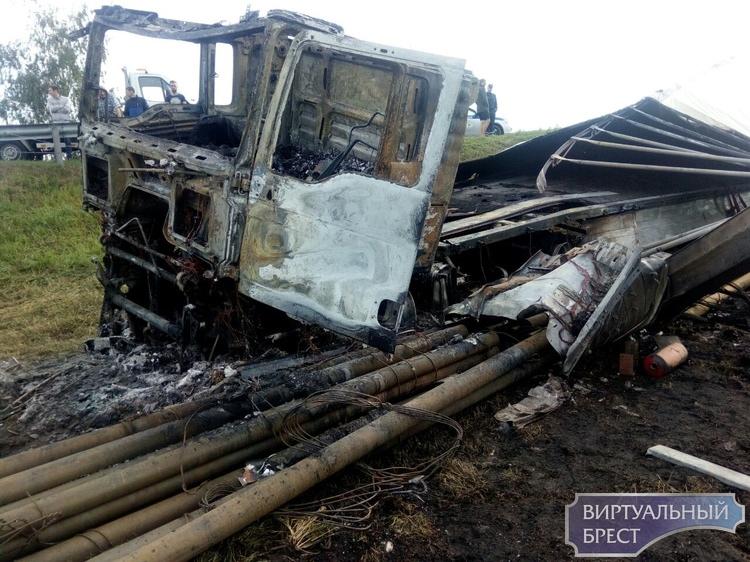 Жёсткое ДТП с возгоранием произошло между г. Иваново и Дрогичин