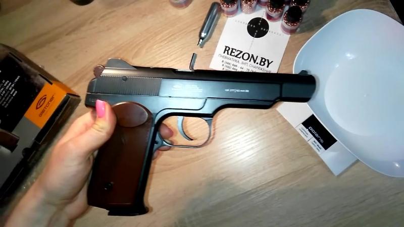 Пневматический пистолет Gletcher APS Blowback 4.5 мм (Стечкин, АПС) - видео обзо