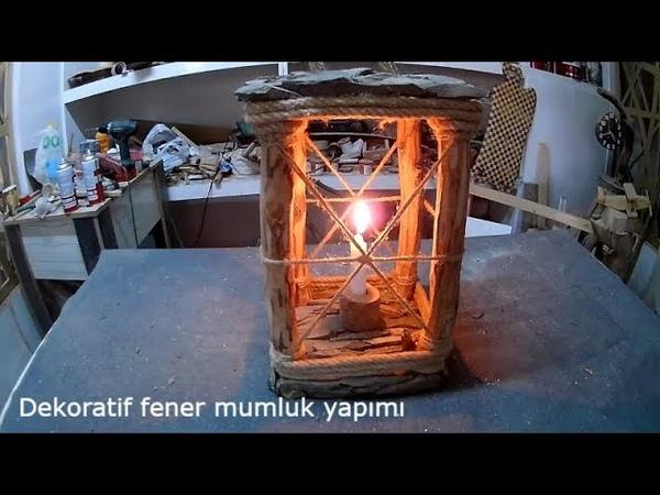 AHŞAP FENER MUMLUK wooden candle holder