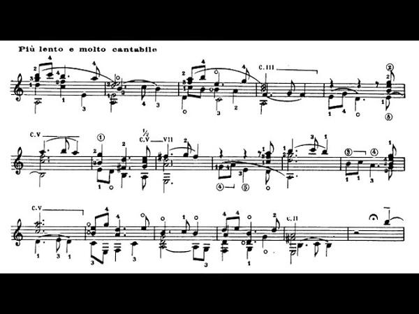 Frederico Mompou Suite Compostelana for Guitar 1962 Score Video