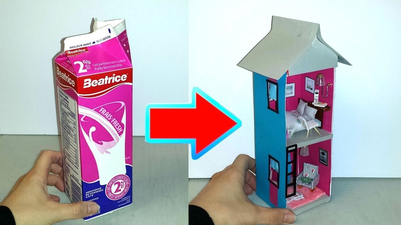 How to make a Dollhouse from Milk Carton
