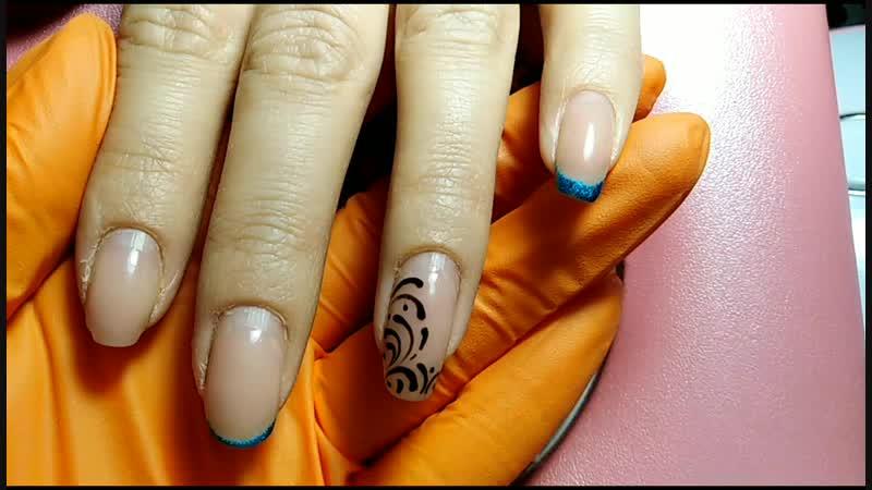 Коррекция укрепления хорошо ногтей донаращивание указательного ноготка на левой руке