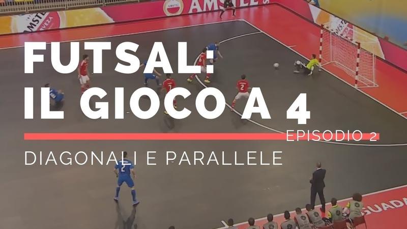 Tattica Futsal: Futsal 4-0 - Il gioco a 4 - Attacco in diagonale e parallela EP.2