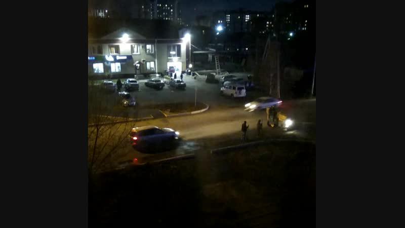 Ночной Абакан (вид из окна)