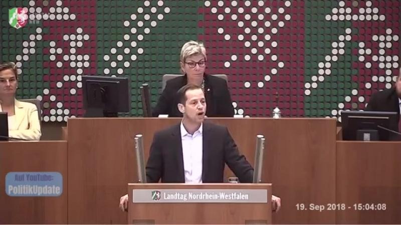 Rede von Roger Beckamp -AfD- bringt SPD-Mann zum toben ► NRW-Landtag