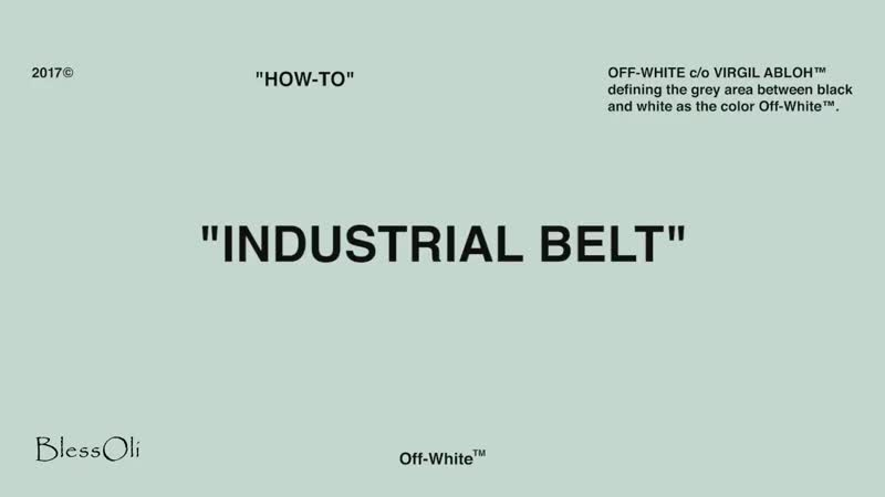 'How to' wear OFF-WHITE 'INDUSTRIAL BELT' 'COULISSE BELT'.mp4