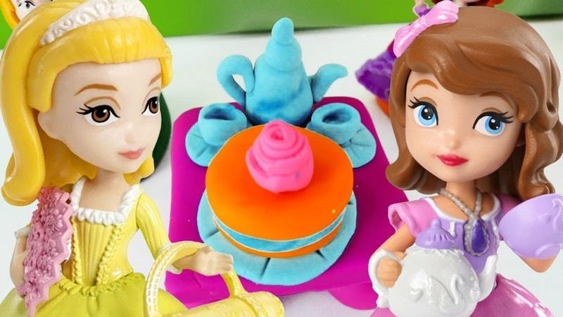 Play Doh Schule für Kinder. Ein Teeservice für Prinzessin Sofia