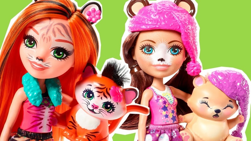 New upcoming Enchantimals dolls Wolf Tiger Swan Polar Bear and cute playsets