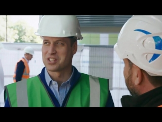 Duke of Cambridge joins the crew of DIY SOS as they build a new home for the Dale Youth Boxing Club and a new community centre