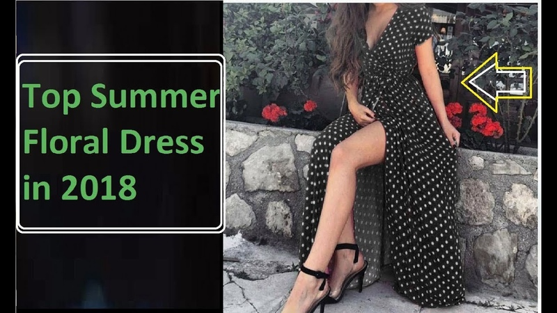 Top Summer Floral Dress 2018 Long Maxi