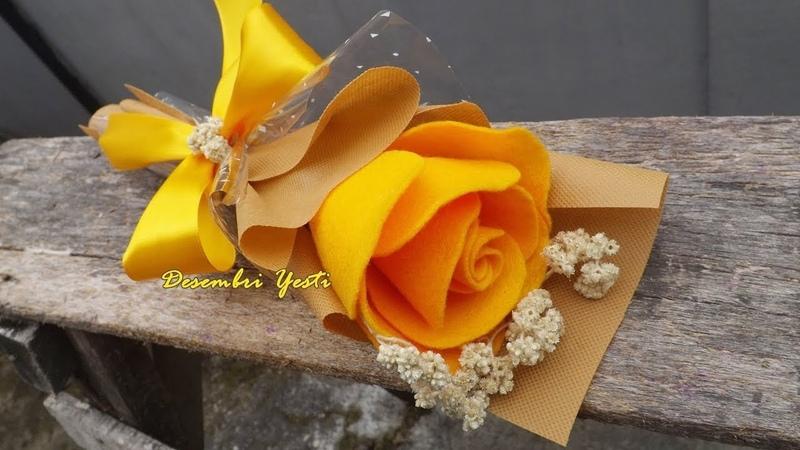 Wrapping Mawar Flanel Menggunakan Kain Spunbond