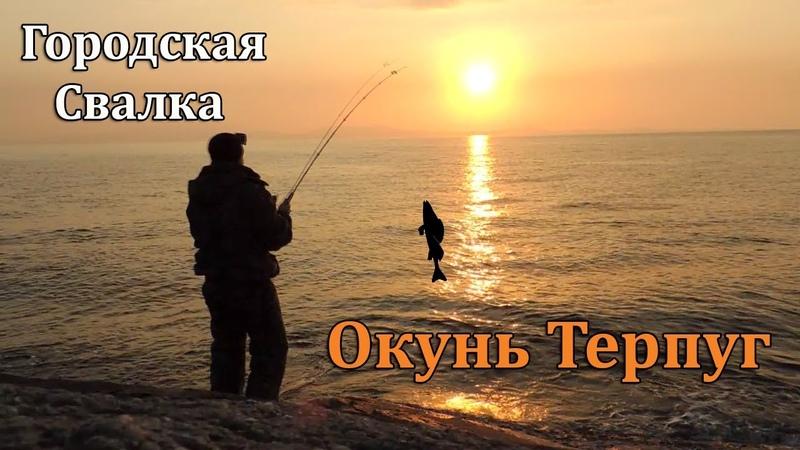 Рыбалка на Городской Свалке Ловля Окуня Терпуга на Спиннинг в Море.