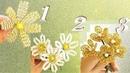 Простые цветочки из КРУПНОГО БИСЕРА / мастер-классы для начинающих