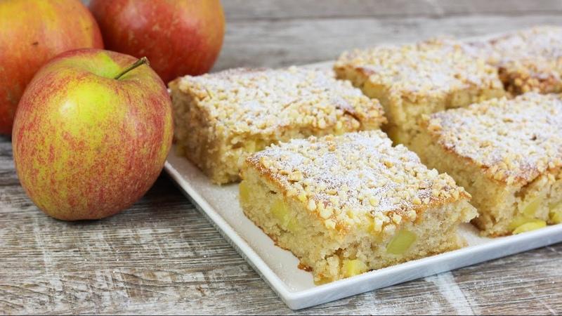 Saftiger Apfelkuchen vom Blech - Schneller Apfel Kuchen Blechkuchen