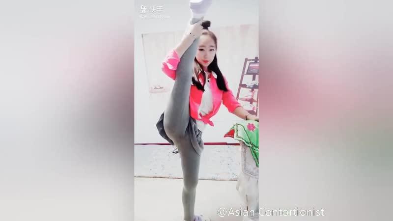 Asian Yoga Flexible Girls Contortionist Sexy Splits Stretch❤38 bikini