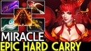 Miracle- [Lina] Epic Hard Carry Build 22 Kills 7.19 Dota 2
