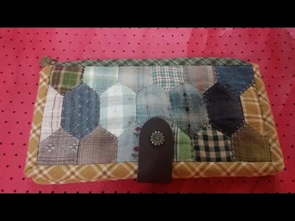 핵사곤장지갑.통장지갑.퀼트.종이접기.인형.오월의장미.173