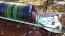 Расстреливаем много дисков из воздушки