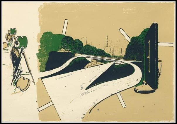 Нео Раух / Neo Rauch ( 1960, Лейпциг, Германия ) Графика.https://v.com/album-124758405_258712023