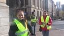 Gele Hesjes Rotterdam in de storm kwamen maar acht mensen toch doorgegaan