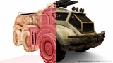 Voxelized Low-Poly APC Model - Voxel LODs