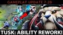 Dota 2 NEW 7 20 Patch Tusk Ability Rework