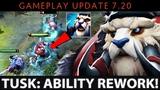 Dota 2 NEW 7.20 Patch - Tusk Ability Rework