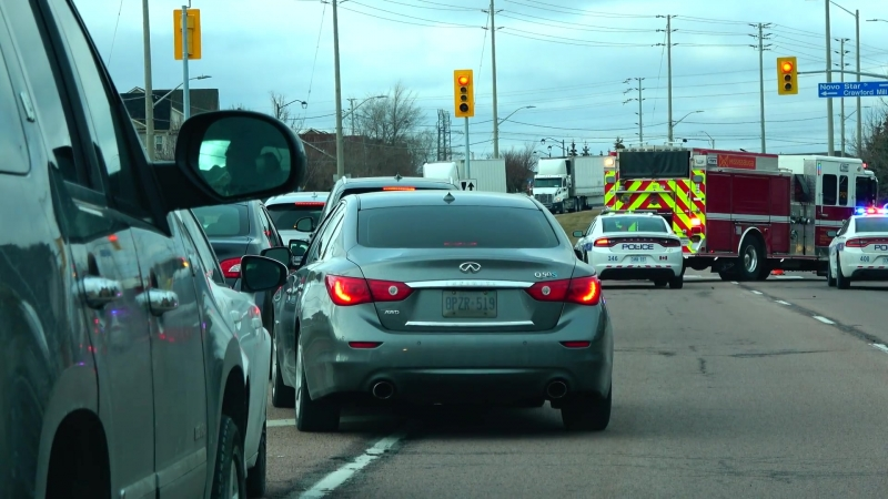 """[4K] 2018 Police Fire Fighters Ambulance Responding to an Accident in Mississauga Canada""""},""""url"""" """""""