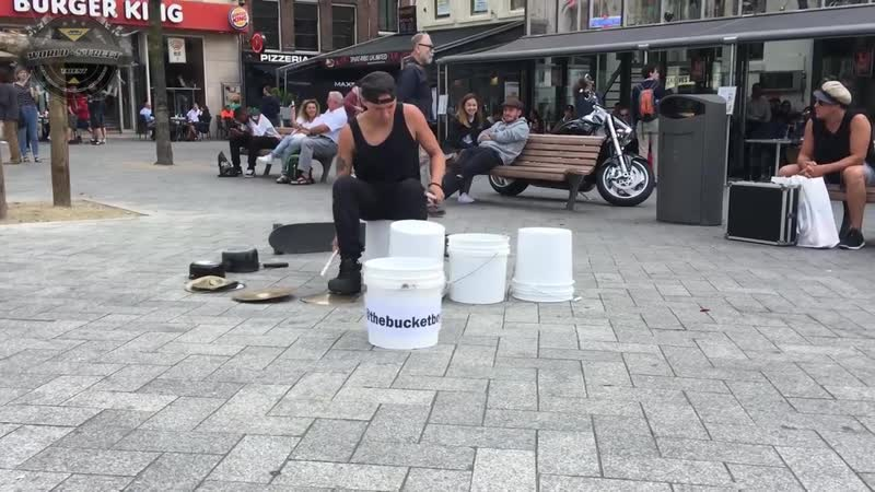 Matthew Pretty - The Bucket Boy From Las Vegas Performing At The Leidse Square In Amsterdam 2017! - YouTube (720p)