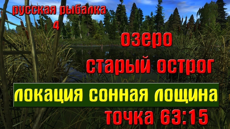 Русская рыбалка 4 рр4 озеро Старый острог Локация Сонная лощина
