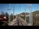2ЭС4к из кабины машиниста Адлер -Туапсе грузовым