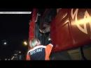 В Казани фура зацепила легковой автомобиль и протащила несколько метров