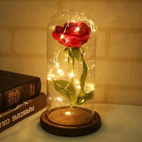Роза в стеклянном куполе