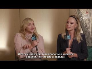 Chloë Grace Moretz _u0026 Maika Monroe on Greta ¦ TIFF 2018 ¦ MTV News [Rus Sub]