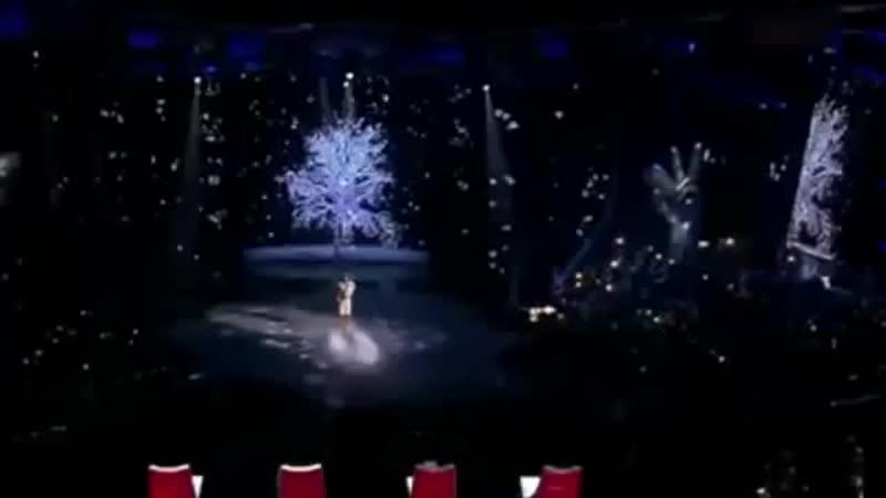 Алиса Игнатьева Белым снегом шоу Голос 3 15 выпуск 12 12 2014