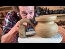 🍯 Как сделать турку из глины Обучение гончарству Волшебство керамики