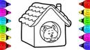 Vẽ Ngôi nhà Noel | Bé Học Tô Màu | How to Draw House Coloring Pages for Kids