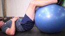ISOMETRIC - Lower Body Exercises 46 Hamstring Curl Isometric w Swiss ball