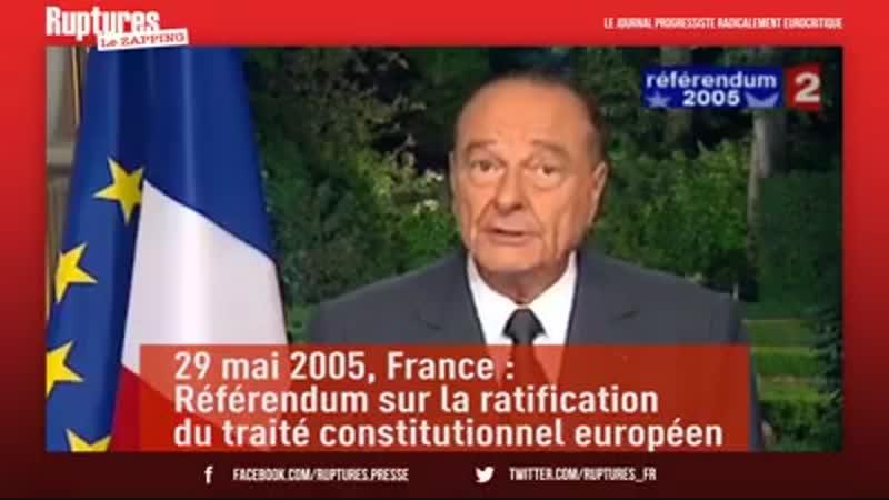 Petite vidéo pour comprendre pourquoi nos dirigeants européistes sont contre le RIC, et naiment pas trop les référendums en géné