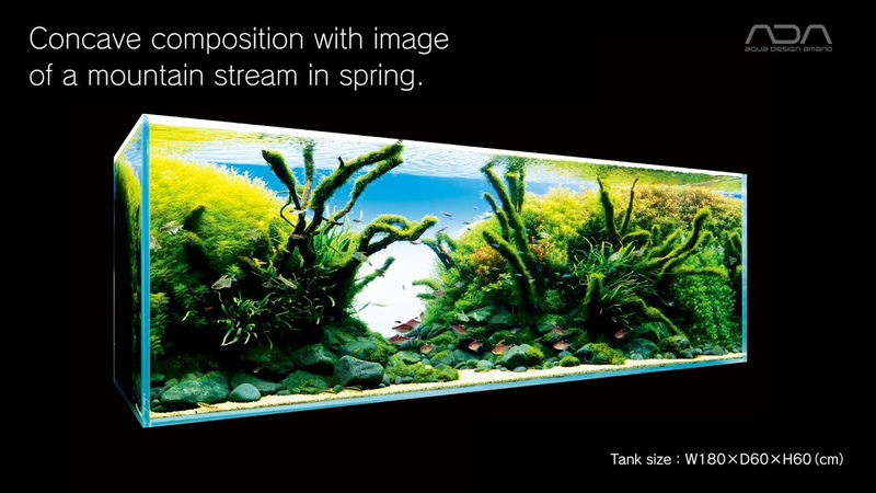 【ADAview】Concave composition with image of a mountain stream in spring