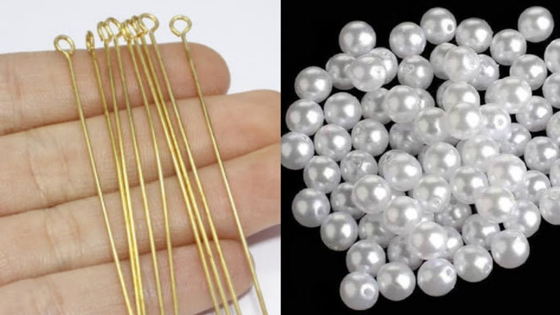 How To Make Simple And Beautiful Pearl Earrings At Home DIY Pearls Jewelry Making uppunutihome