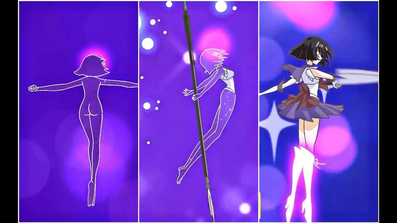 Sailor Outers Transformation (Crystal) [SATURN, PLUTO, URANUS, NEPTUNE]