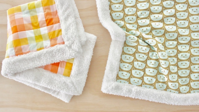 How to Make a Self Binding Sherpa Fleece Blanket