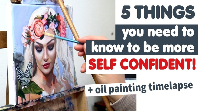 5 THINGS you need to know to be more SELF CONFIDENT oil painting timelapse