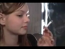 Young Girl Smoking new hd video