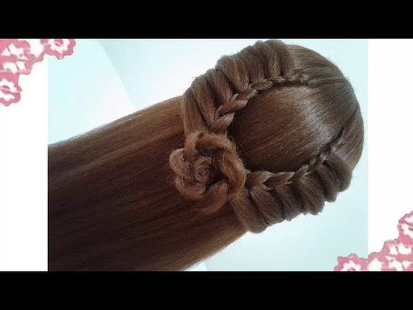 Peinados recogidos faciles para cabello largo bonitos y rapidos con trenzas para niña y fiestas7472
